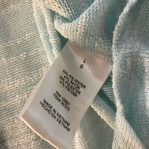 Olive & Oak Sweaters - Olive & Oak light blue sheer sweater top large